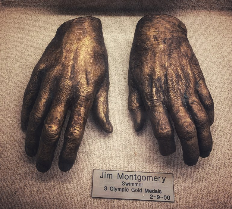 Jim Montgomery, Olympic Swimmer:  The Hand Collection at Baylor Medical Center in Dallas, Texas
