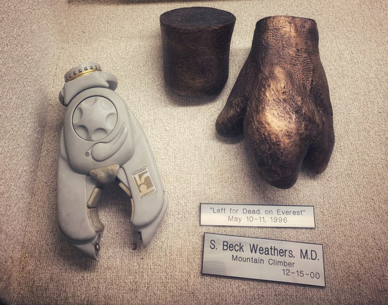 S. Beck Weathers, MD: Left for Dead on Mt. Everest:  The Hand Collection at Baylor Medical Center in Dallas, Texas