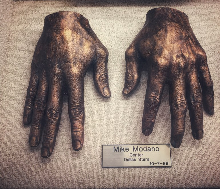 Mike Modano  : The Hand Collection at Baylor Medical Center in Dallas, Texas