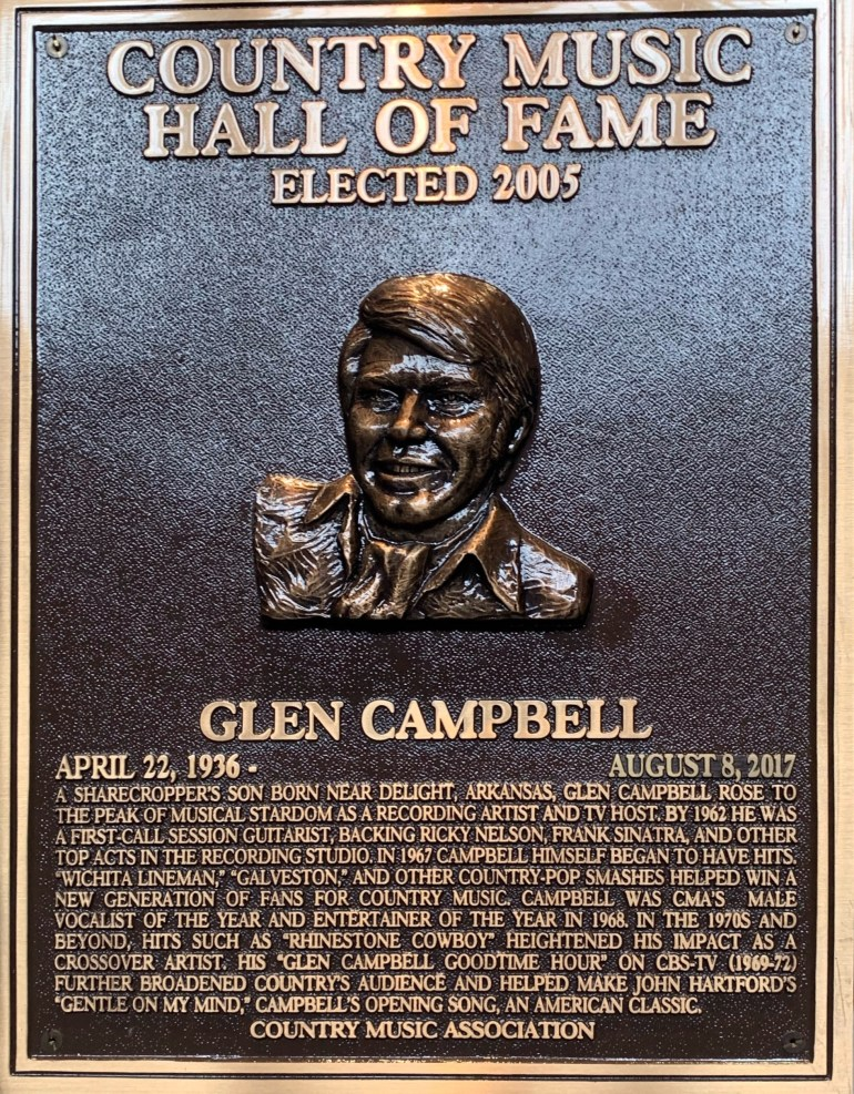 Glen Campbell at the Country Music Hall of Fame in Nashville, Tennessee