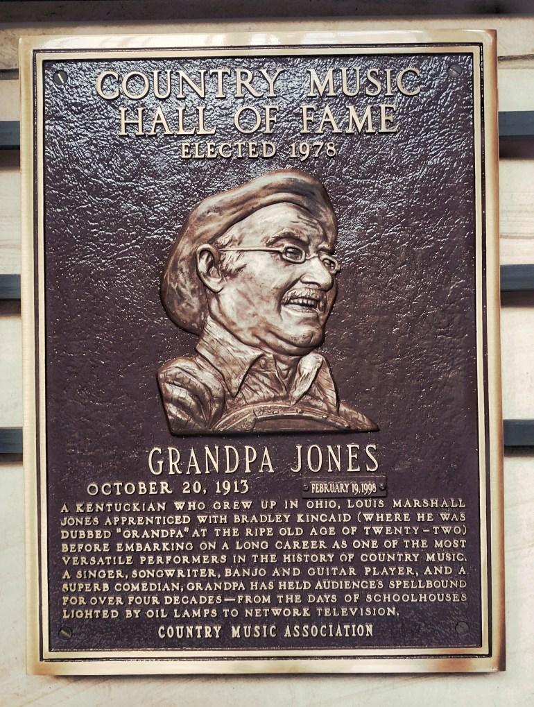 Grandpa Jones at the Country Music Hall of Fame in Nashville, Tennessee