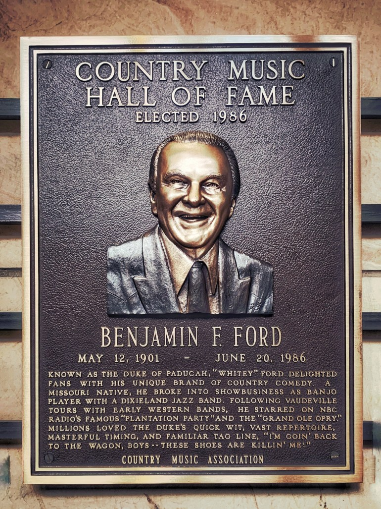 Benjamin Ford at the Country Music Hall of Fame in Nashville, Tennessee