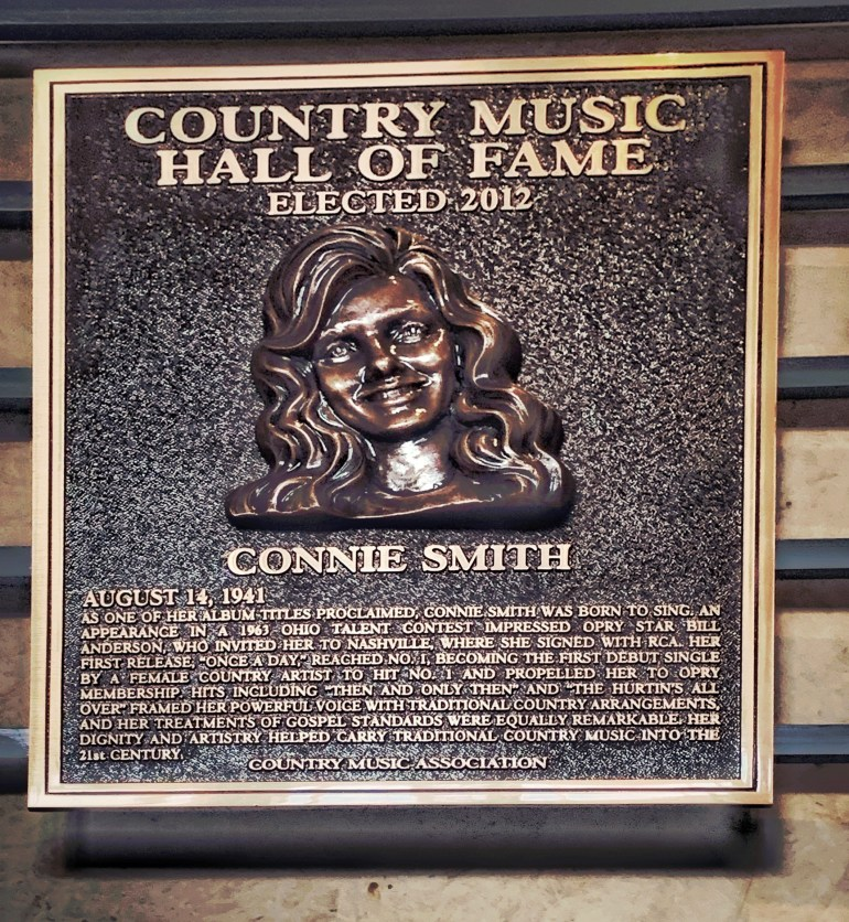 Connie Smith at the Country Music Hall of Fame in Nashville, Tennessee