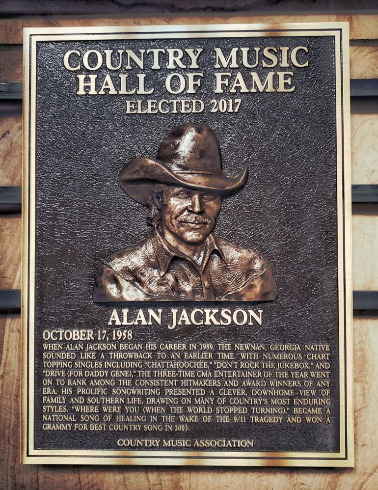 Alan Jackson at the Country Music Hall of Fame in Nashville, Tennessee