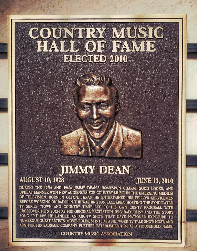 Jimmy Dean at the Country Music Hall of Fame in Nashville, Tennessee