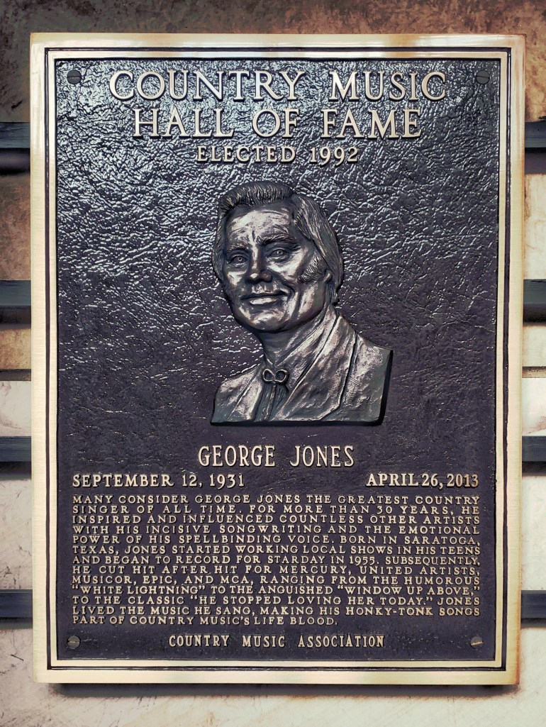 George Jones at the Country Music Hall of Fame in Nashville, Tennessee