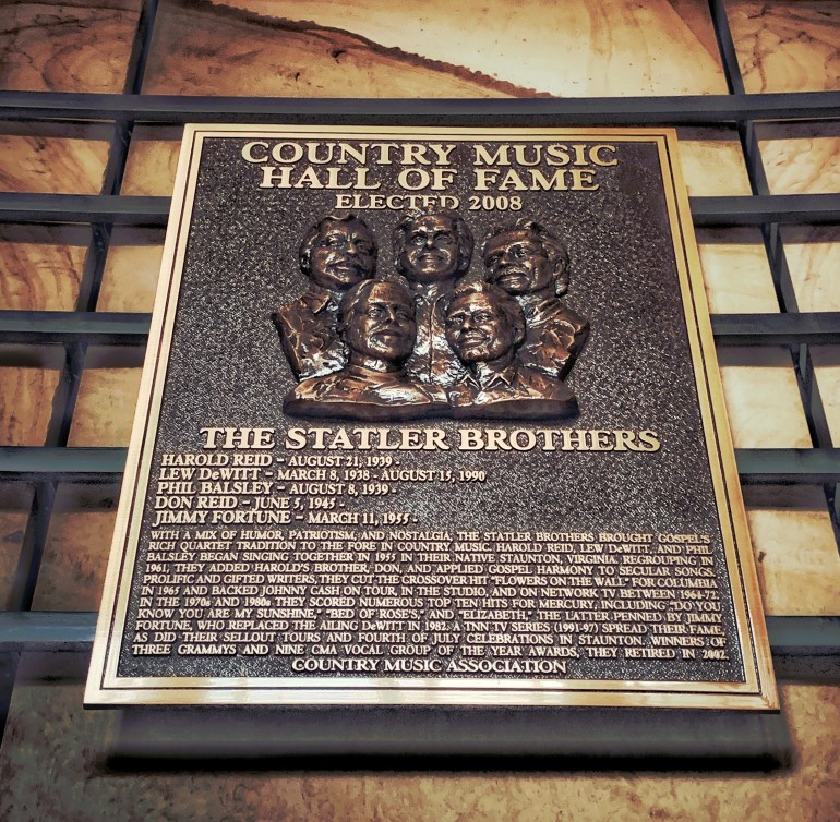 The Statler Brothers at the Country Music Hall of Fame in Nashville, Tennessee