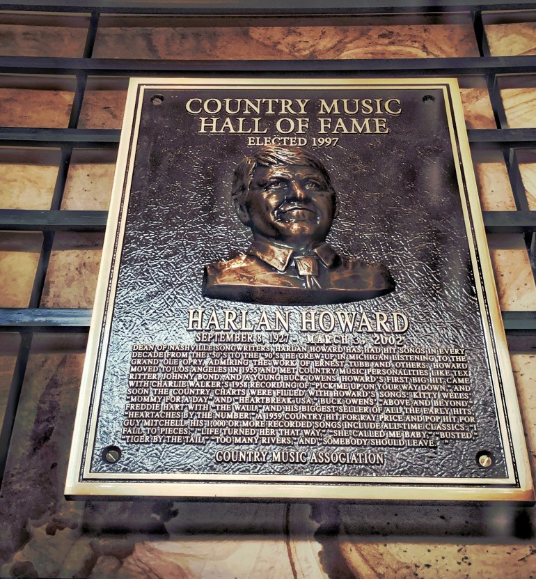 Harlan Howard at the Country Music Hall of Fame in Nashville, Tennessee