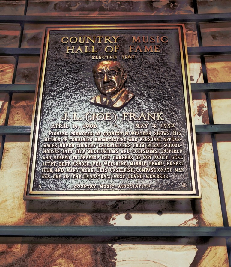J.L. Frank at the Country Music Hall of Fame in Nashville, Tennessee