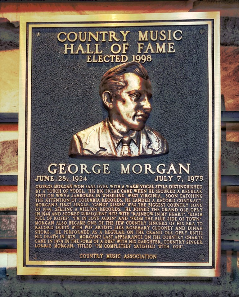George Morgan at the Country Music Hall of Fame in Nashville, Tennessee