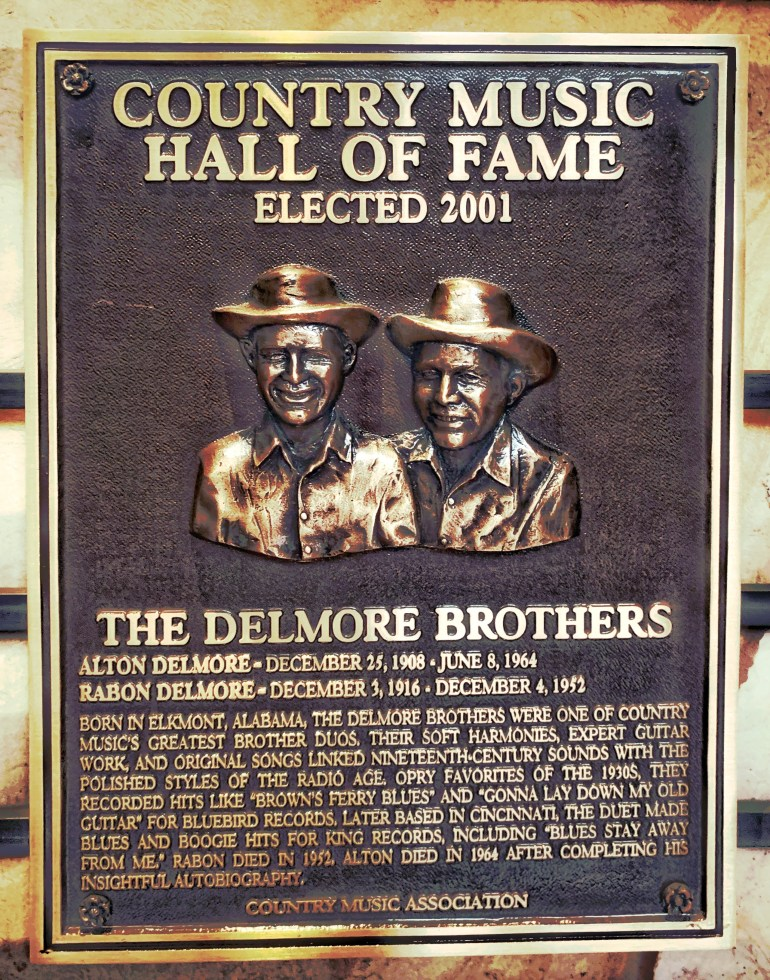 The Delmore Brothers at the Country Music Hall of Fame in Nashville, Tennessee