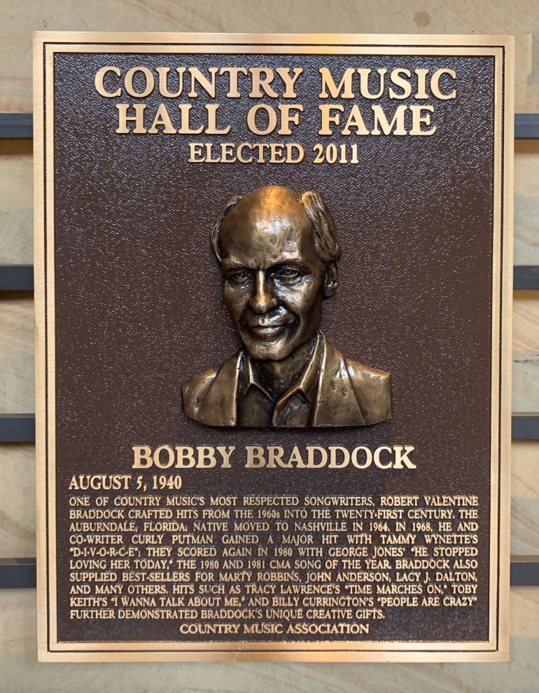 Bobby Braddock at the Country Music Hall of Fame in Nashville, Tennessee
