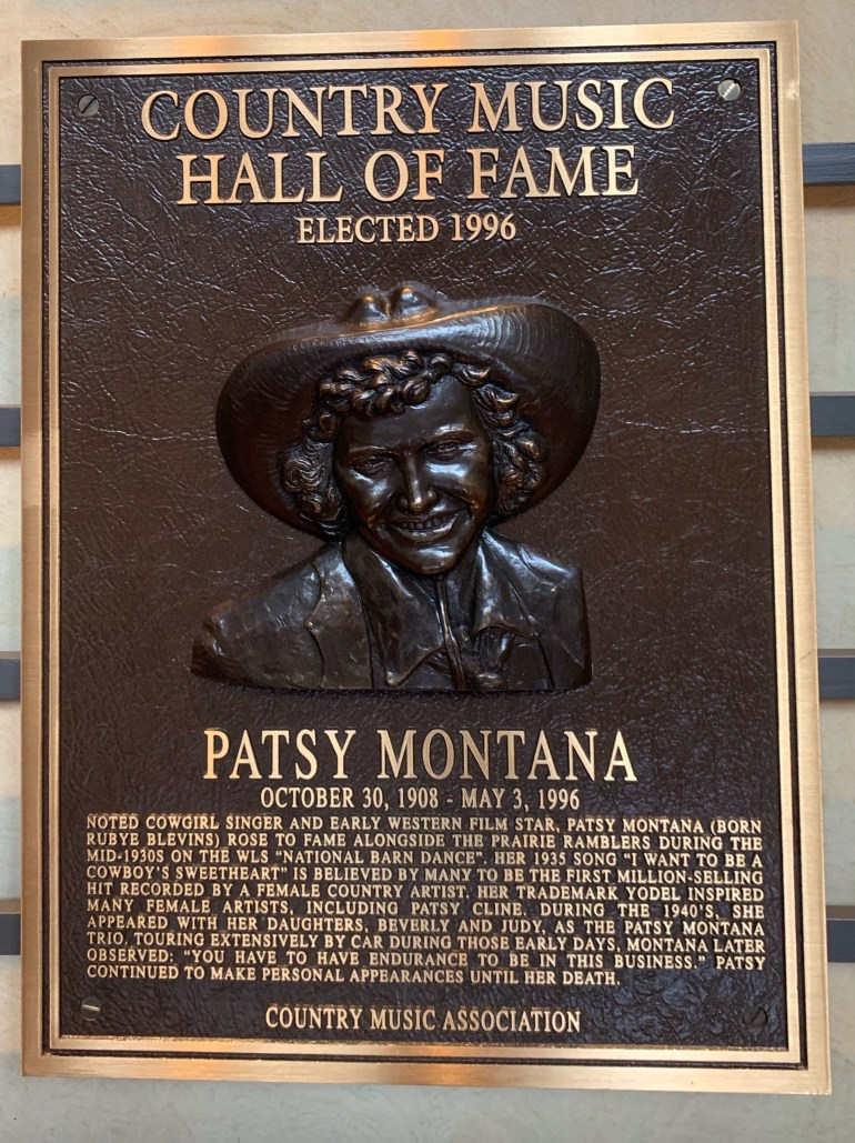 Patsy Montana at the Country Music Hall of Fame in Nashville, Tennessee