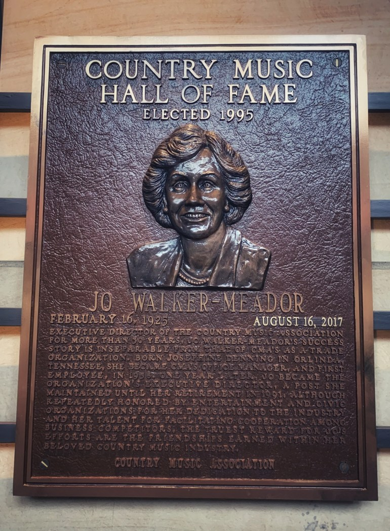 Jo Walker-Meador at the Country Music Hall of Fame in Nashville, Tennessee