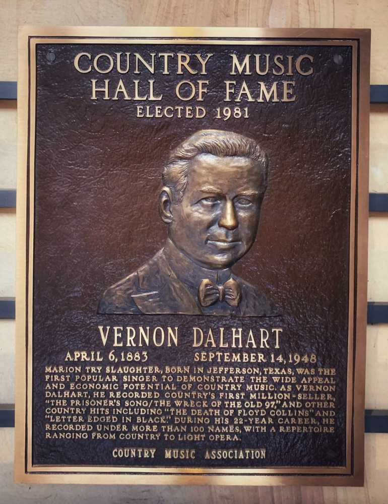 Vernon Dalhart at the Country Music Hall of Fame in Nashville, Tennessee