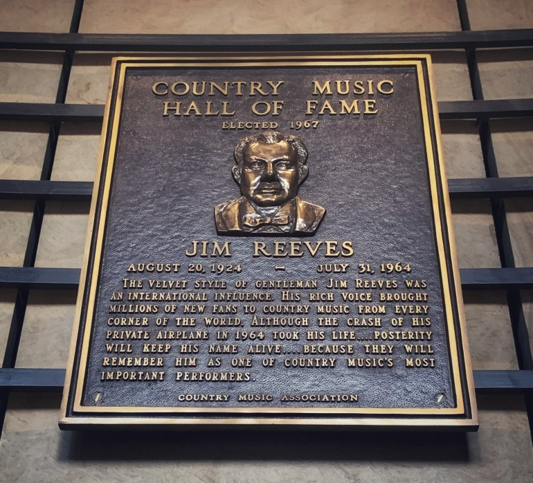 Jim Reeves at the Country Music Hall of Fame in Nashville, Tennessee