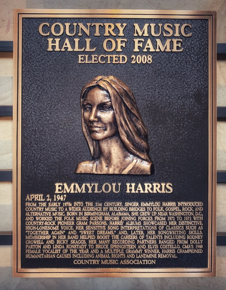 Emmylou Harris at the Country Music Hall of Fame in Nashville, Tennessee