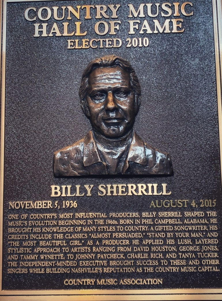 Billy Sherrill at the Country Music Hall of Fame in Nashville, Tennessee