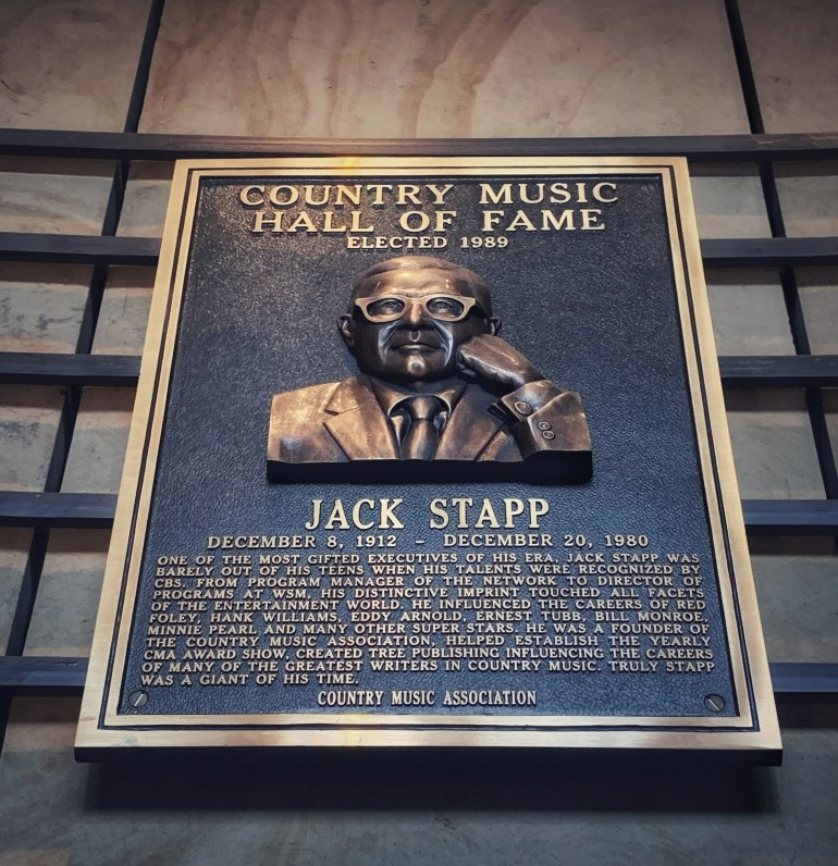 Jack Stapp at the Country Music Hall of Fame in Nashville, Tennessee