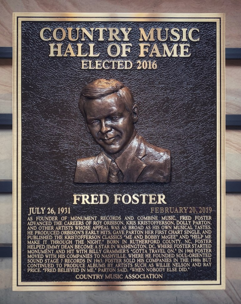 Fred Foster at the Country Music Hall of Fame in Nashville, Tennessee