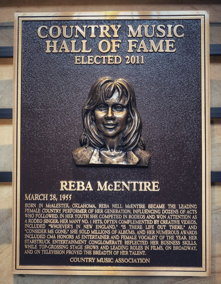 Reba McEntire at the Country Music Hall of Fame in Nashville, Tennessee