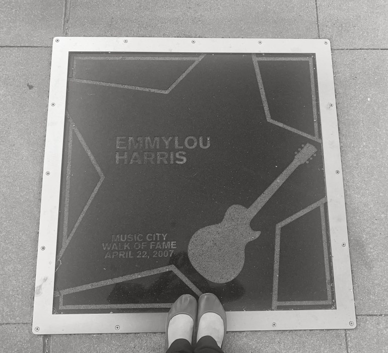 Emmy Lou Harris on the Music City Walk of Fame in Nashville, Tennessee