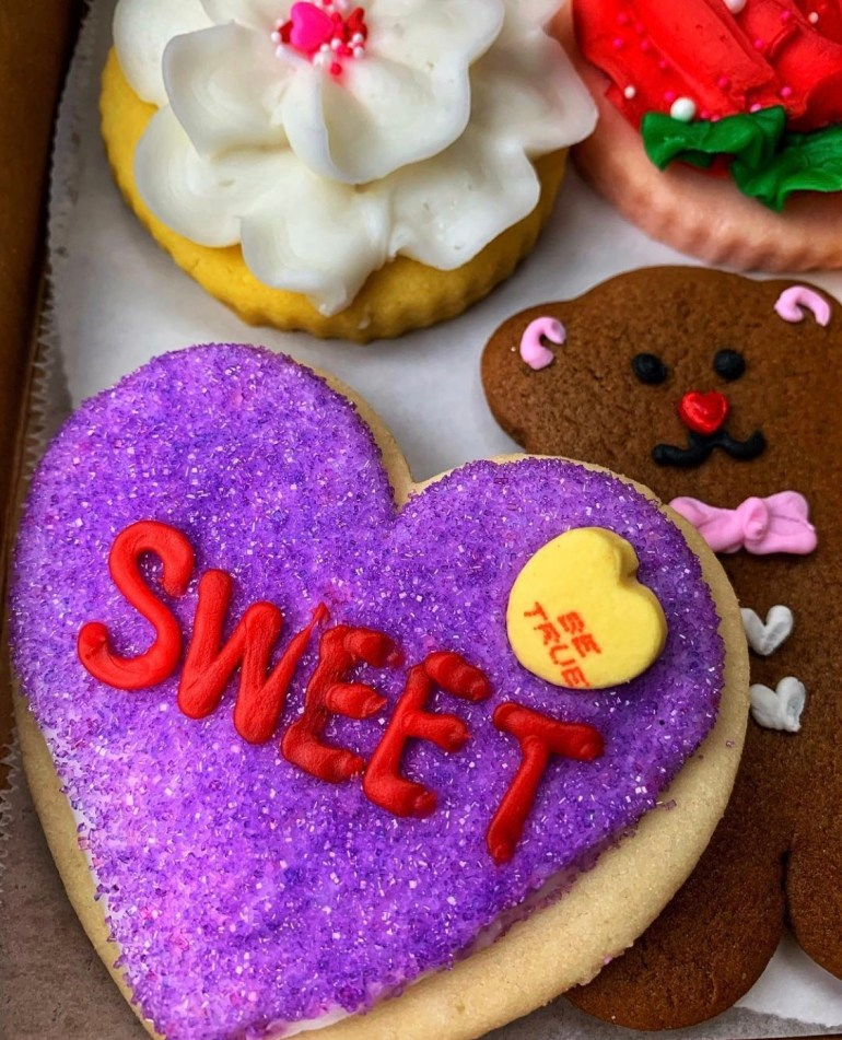 Beautiful and Delicious Valentine's Day Sugar Cookies from Sweet Themes Bakery in Kent, Washington
