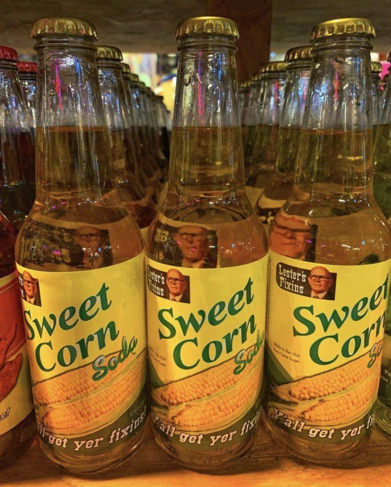 Sweet Corn Flavored Soda at Rocket Fizz in Portland, Oregon