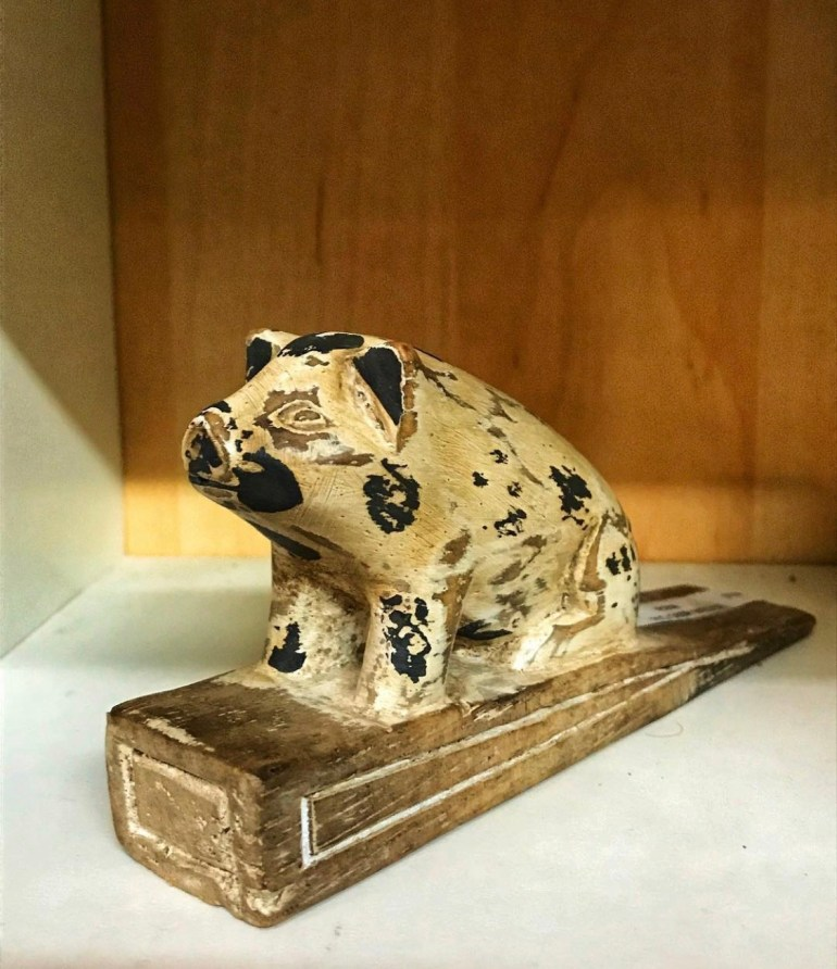 Pig Door Stop:  An Afternoon of Antiques in Snohomish, Washington