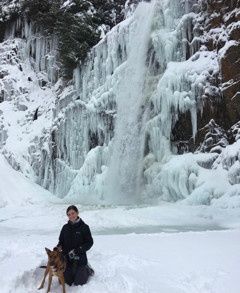 Winter Hike to Franklin Falls in Washington State