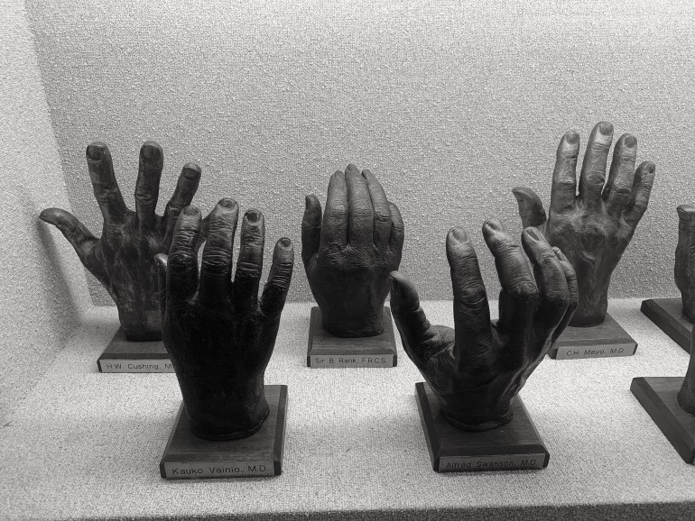 The Hand Collection at the Baylor University Medical Center in Dallas, Texas