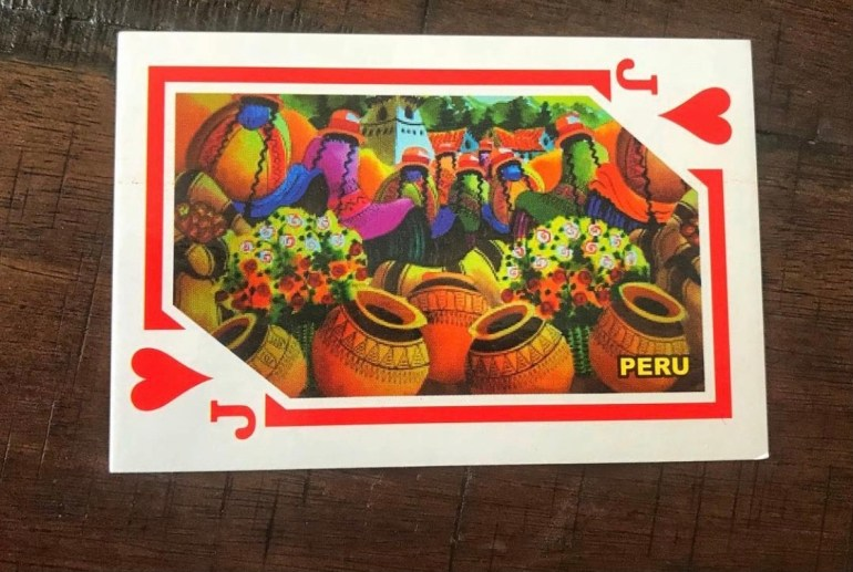 Jack of Hearts: Souvenir Playing Cards from Peru