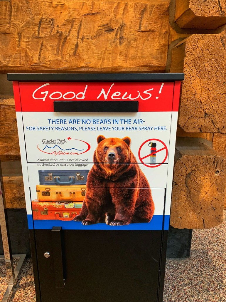 Good News! No Bears in the Air: Glacier Park International Airport