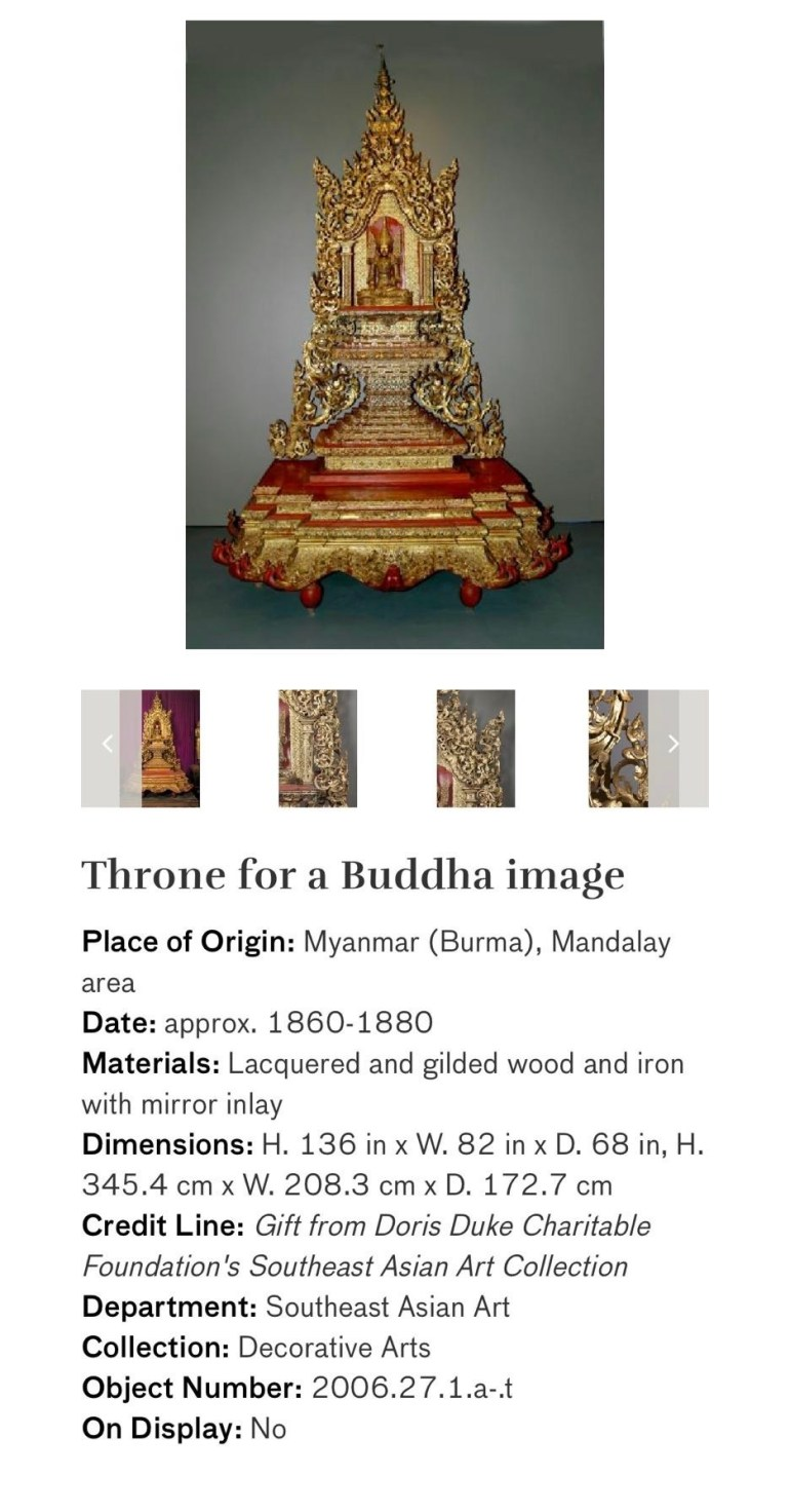 Throne for a Buddha Image: Touring Art Museums During Covid: Asian Art Museum Masterpieces at the Asian Museum of Art in San Francisco