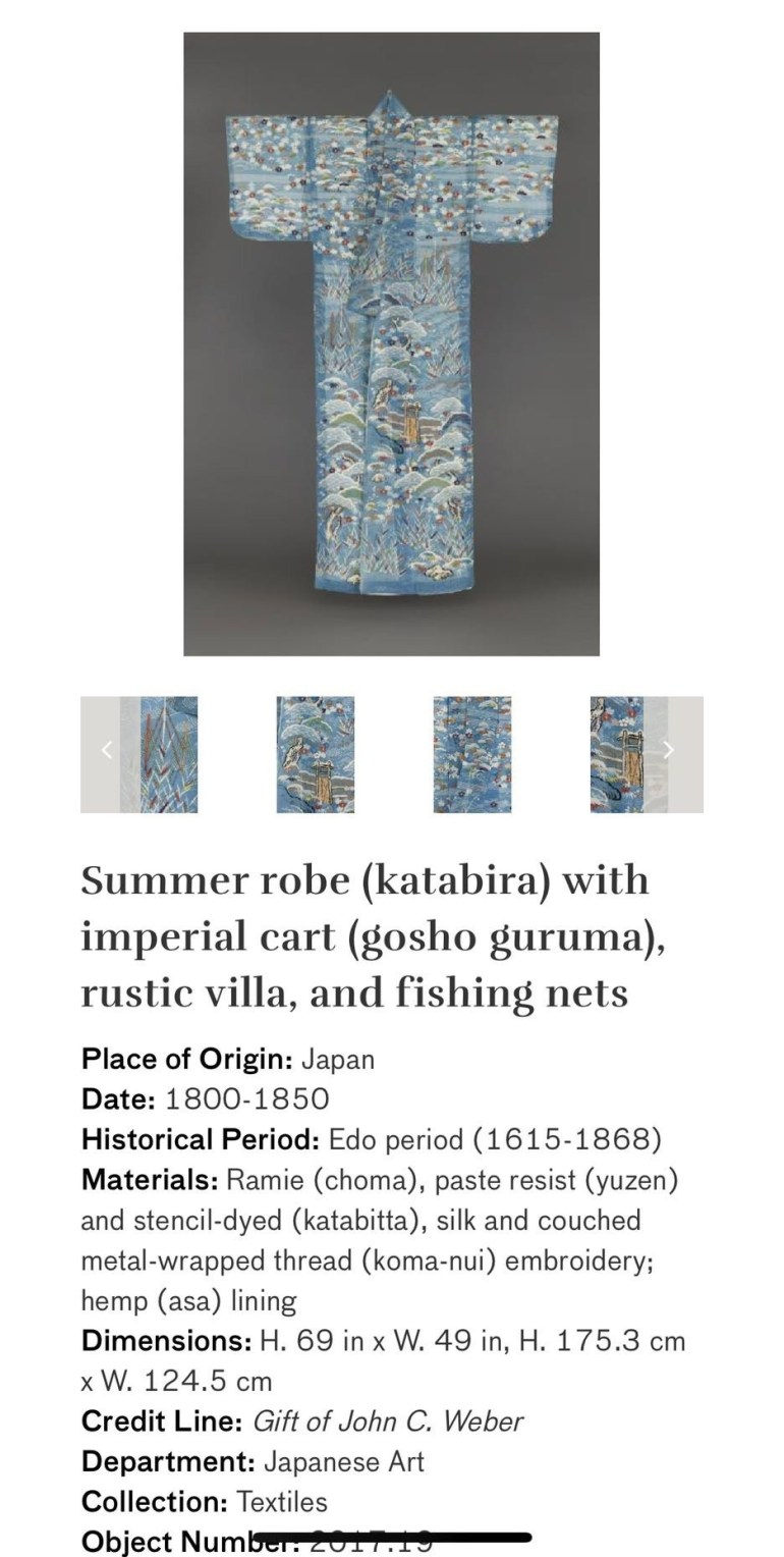 Summer Robe with Imperial Cart, rustic villa, and fishing nets: Touring Art Museums During Covid: Asian Art Museum Masterpieces at the Asian Museum of Art in San Francisco