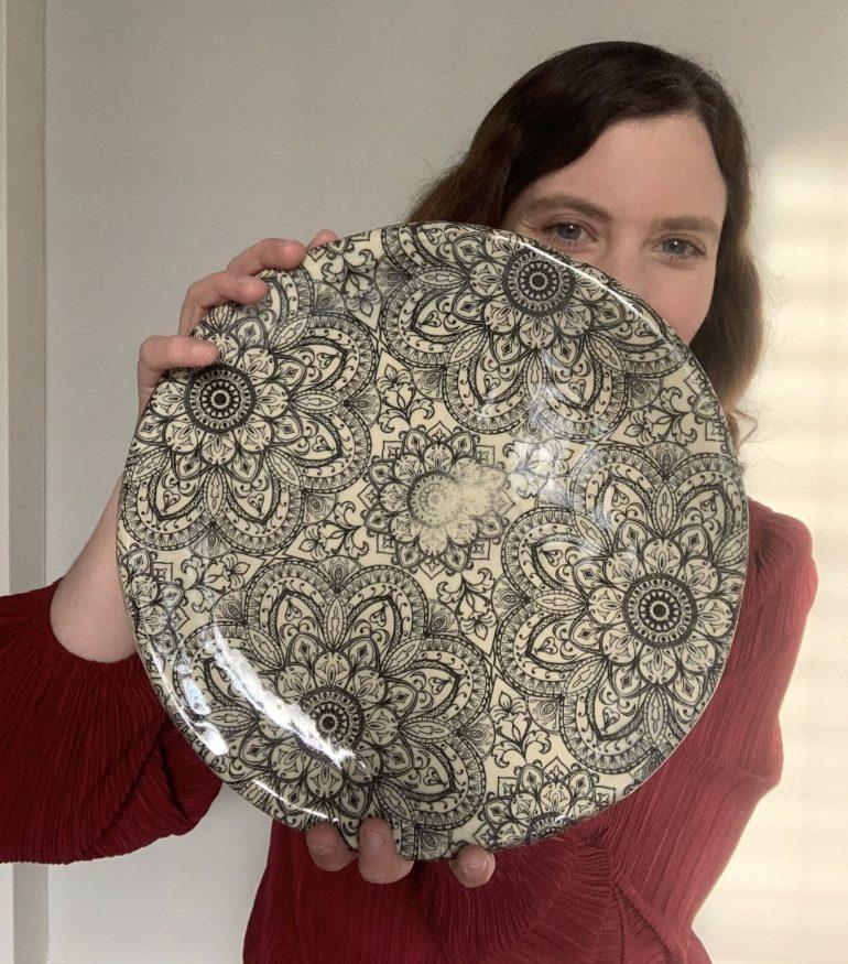 Pottery Projects: Mandala Plate--Wheel Thrown Plate Using Elan Underglaze Transfers