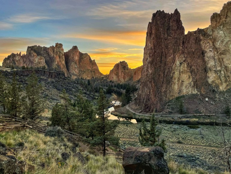 Hiking at Smith Rock State Park Near Bend, Oregon