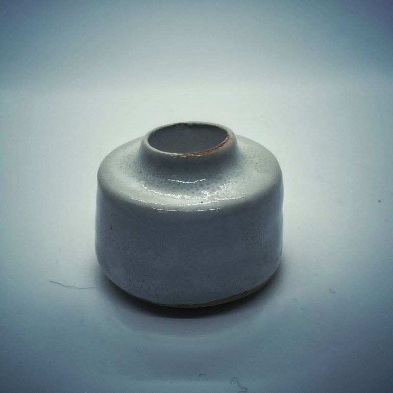 Pottery Wheel Project: White Candle Stick Holder