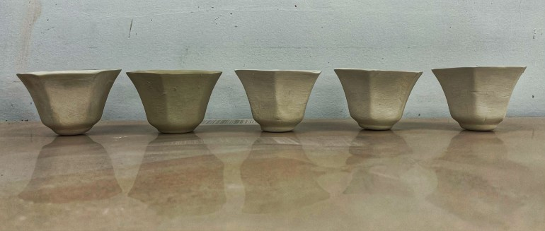 Pottery Projects: Tulip Tea Cups
