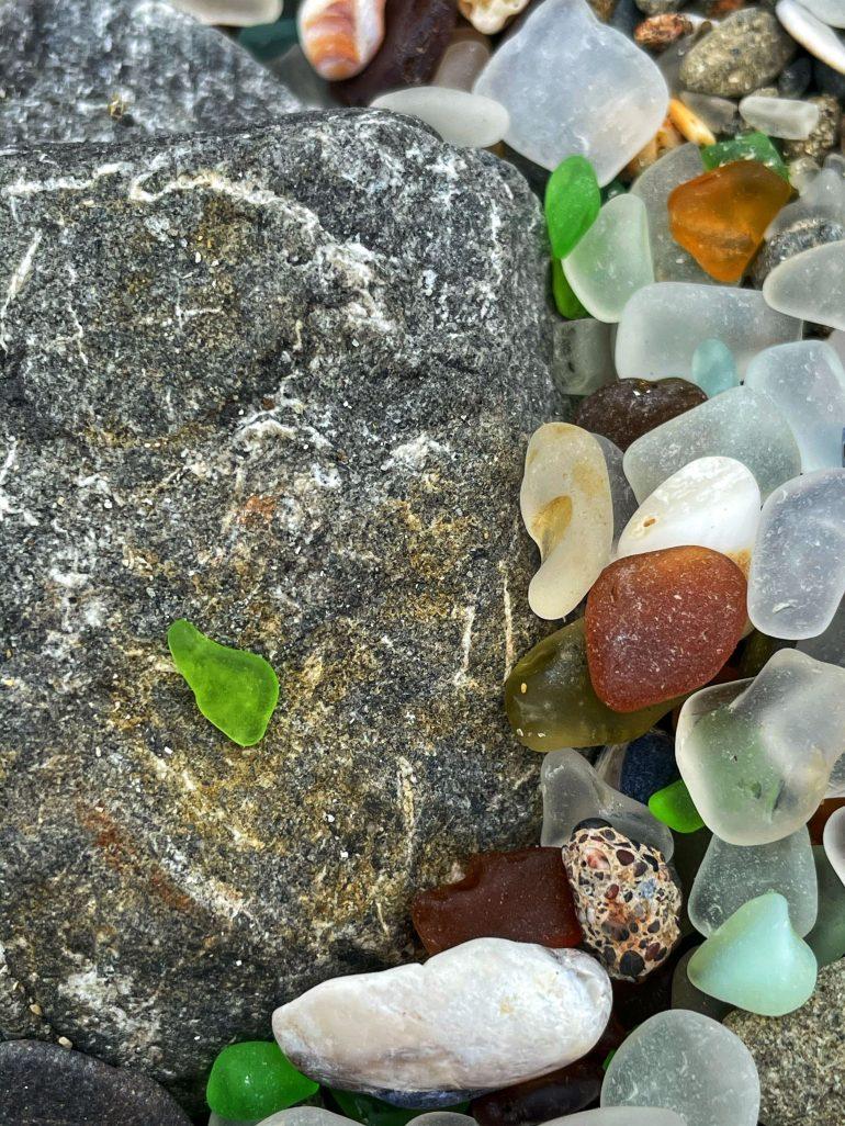 Found on Glass Beach in Fort Bragg, California