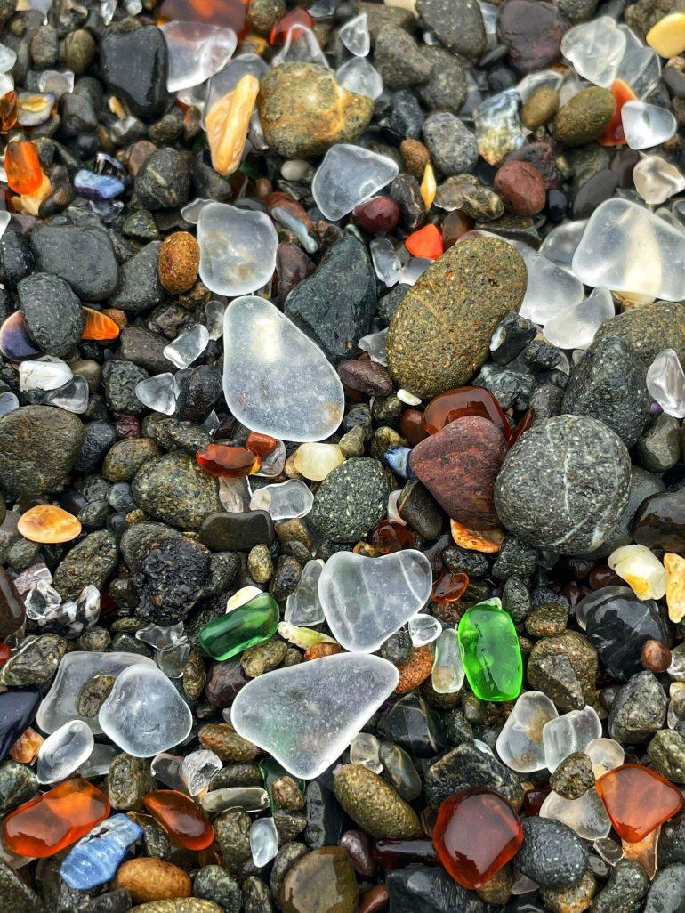 Sea Glass Found on Glass Beach in Fort Bragg, California