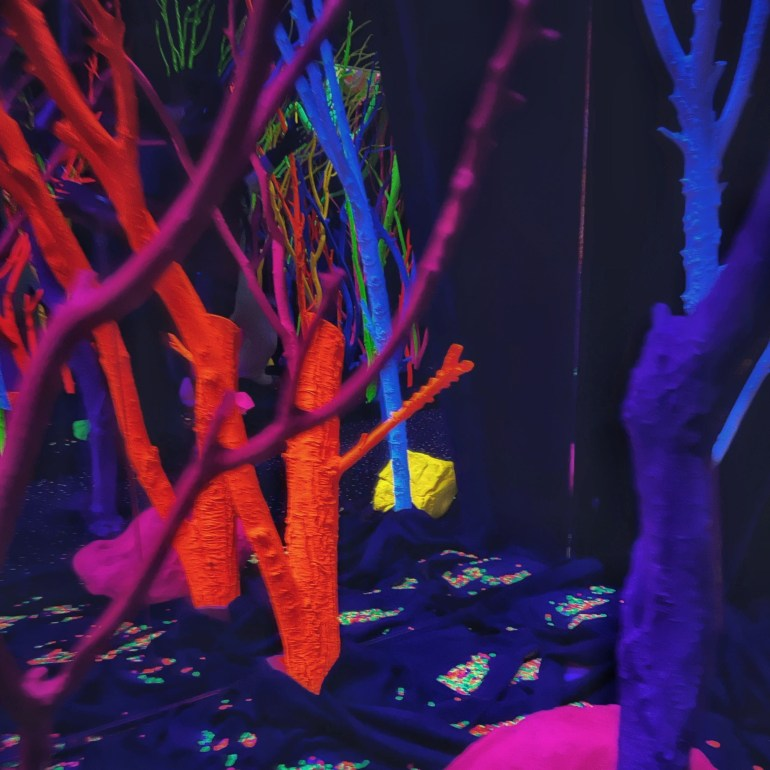 The Hall of Neon Trees at Meow Wolf in Santa Fe, New Mexico: Part II