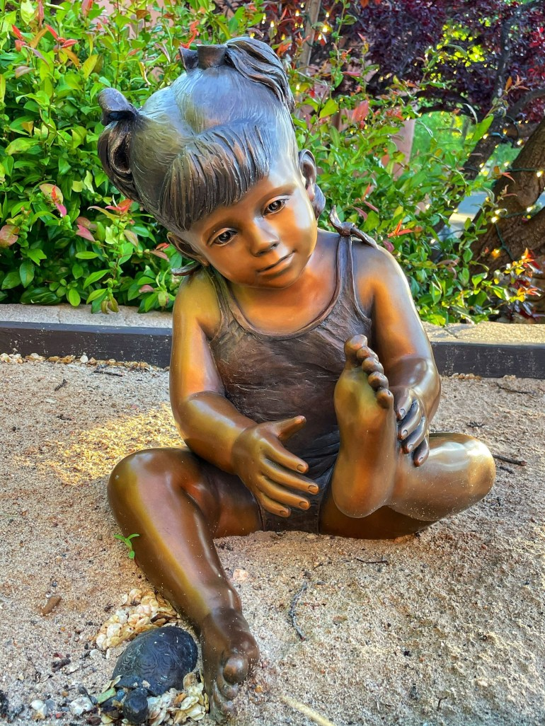 Seated Statue on Canyon Road in Santa Fe, New Mexico