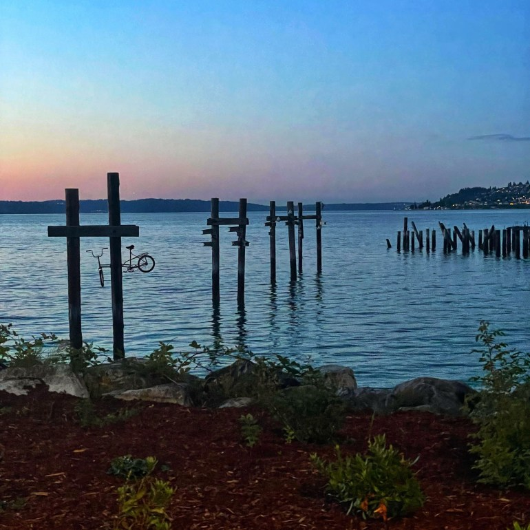 Off Road Fun and a Beautiful Sunset at Dickman Mill Park in Tacoma, Washington
