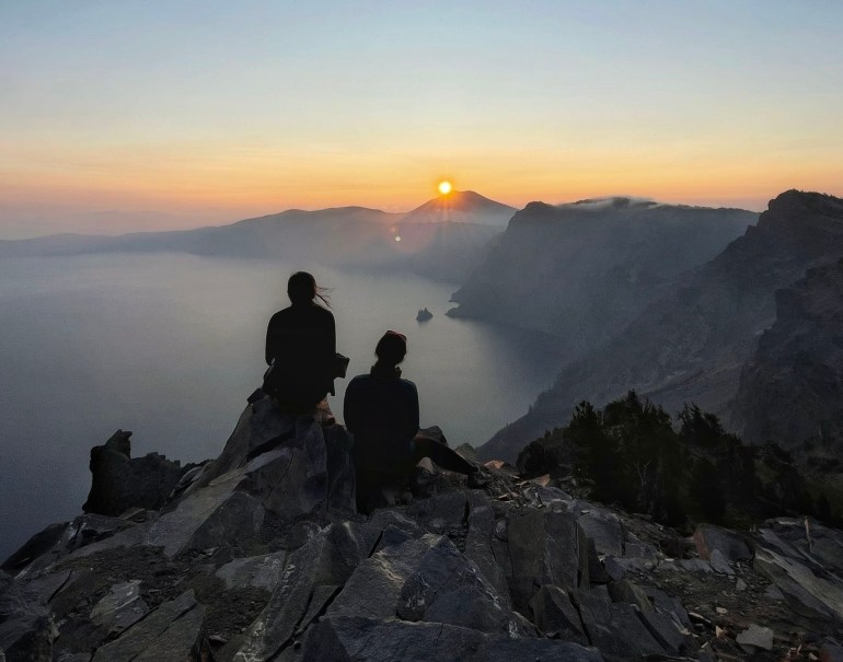 Sunrise at Watchman's Trail, Crater Lake National Park, Oregon