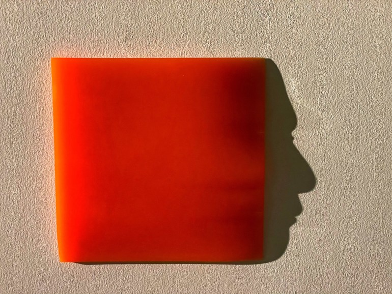 Red: Faces and Shadows at the New Mexico History Museum in Santa Fe, New Mexico