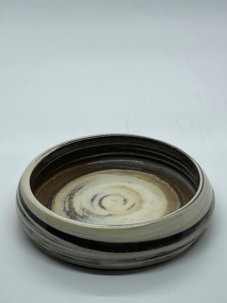 Hand Made Pottery: Small Marbled Clay Snack Bowl