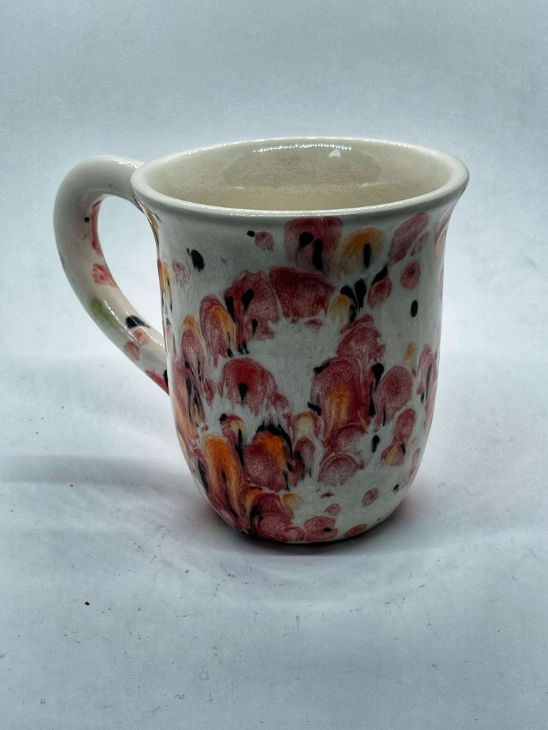 Hand Made Pottery: Poppy Fields Coffee Cup