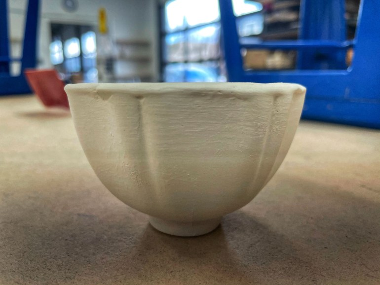 Hand Made Pottery: Footed Flower Tea Cup