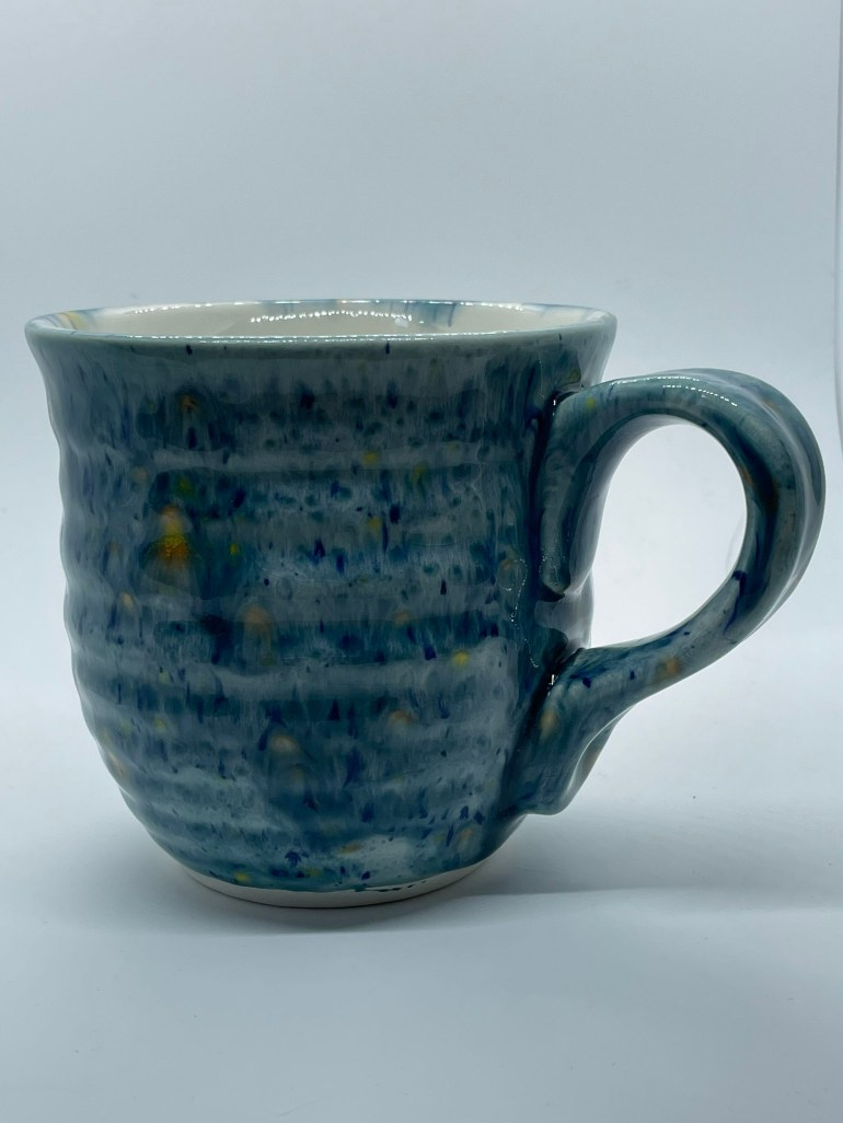 Hand Made Pottery: Large Gem Glazed Coffee Cup